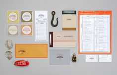 Dribbble - icob_set.jpg by Jennifer Lucey-Brzoza #menu #coasters #identity #restaurant
