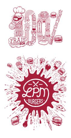 LPM burgers on Behance #meat #poster #hand drawn