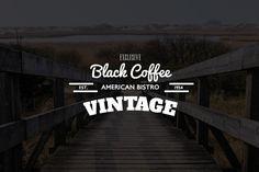 Black Coffee American Bistro #inspiration #badge #design #label #logo