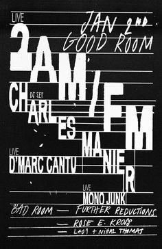 Good Room, Braulio Amado #poster #typography