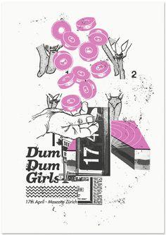 DUM DUM GIRLS #print #screen #violet #purple #poster