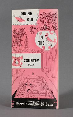 Dining Out In the Country NYC Booklet #modern #map #illustration #mid #century #nyc #booklet #ephemera