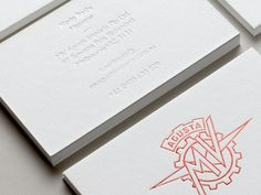 Maythorpe. » MV Agusta #emboss #white #business #print #letterpress #cards #foil