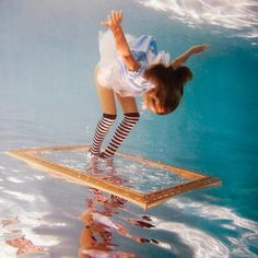 Alice in WaterLand by Elena Kalis #photography #underwater