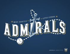 West Seattle Little League - danlustig.com #vector #seattle #admirals #sports #baseball #logo #typography