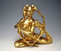 Masao Kinoshita's Sculptures Play With Exaggerated Anatomy | Hi-Fructose Magazine #sculpture #contortion #design #flexible #gold #art #beauty