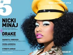 Nicki Minaj #nick #page #design #cover #grid #layout #minas