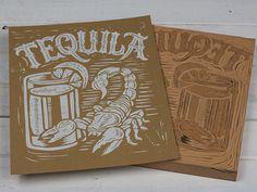 Tequila - Block Print #typography