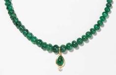 Smaragd-Brillant-Collier