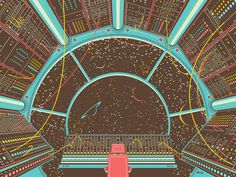 Cockpit #scifi #illustration #vector #space