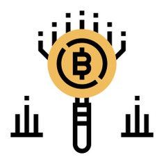 See more icon inspiration related to cryptography, business and finance, trend, bitcoin, analysis and chart on Flaticon.