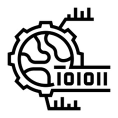 See more icon inspiration related to research, global, data, business and finance, binary, analysis and gear on Flaticon.
