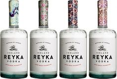 Reyka Vodka from Iceland | Sustainable Packaging Design #packaging #design #liquor