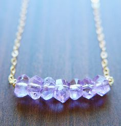 Amethyst Nugget Necklace - 14k Gold Fill #nugget #amethyst #necklace