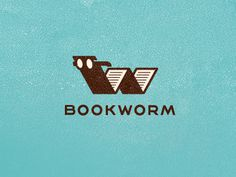 Bookworm #mark #logo #branding #bookworm
