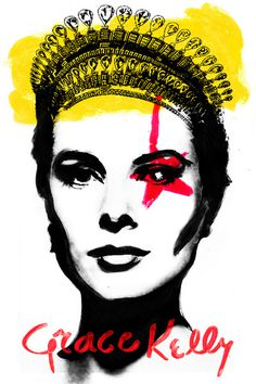 Art Print #celebrity #princess #monaco #grace #kelly #star #poster