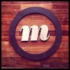 Mike Smith #wood #signage #metal #wooden #bodoni #raised