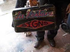FFFFOUND! | La Pantura Signs on Flickr - Photo Sharing! #painted #hand