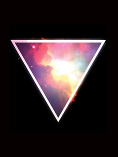 Nebula Triangle Art Print #triangle space