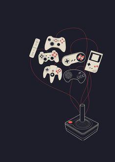 Videogame Art Print #illustration #videogame