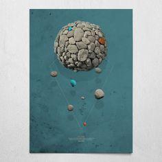 #evilstone #smokeblue #poster #wallart #eames #stone #rock