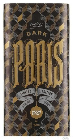 ModernVintage_ChocolateBar #typography #vintage #chocolate #victorian #paris