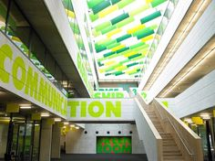 westminster academy / building narrative / architects ahmm / building nominated for the stirling prize 2008 & has won many awards | studio m #morag #environment #academy #myerscough #westminster #typography