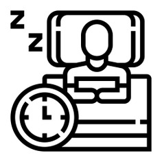 See more icon inspiration related to sleep, rest, relax, bed, time, pillow, time and date, hands and gestures, duvet, zzz, user, sleeping, watch, man and clock on Flaticon.