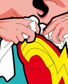 Secret Hero Life Pop icons @ ShockBlast #illustration #superheroes