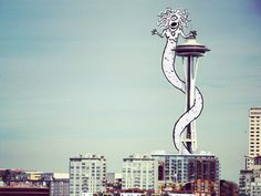 Snakecolpios #illustration #doodle #seattle