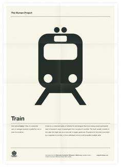 The Human Project (Train) Poster #graphic design #design #typography #creative #poster #inspiration #grid system