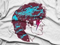 Dribbble - Davy Crockett Bowie by Justin Fuller #justin #shirt #crockett #davy #fuller