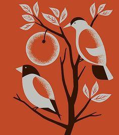 FFFFOUND! | orange birds on Flickr - Photo Sharing! #illustration #birds