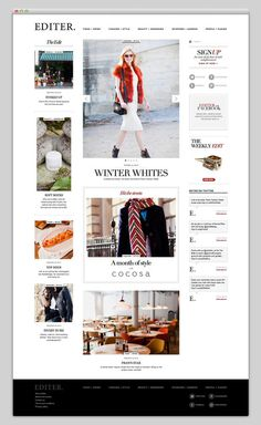 Editer #layout #fashion #magazine #website #web #web design