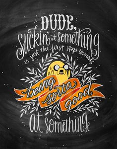 Inspirational quote lettered by Casey Ligon.