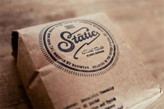 SK_StaticCoffee_05 #packaging #branding #typography