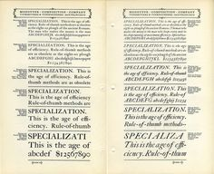 Monotype Caslon type specimen #type #specimen #caslon
