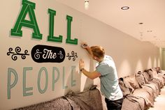 Holiday Inn mural #direction #illustration #art #typography