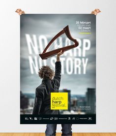 Dutch Harp Festival 2014 (design: www.theadagency.nl) #agency #design #graphic #the #poster #ad #music