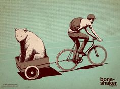 Boneshaker_AdamsC_1600x1200.jpg (1600×1200) #bear #illustration #boneshaker #bike