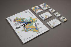 Exogamia, design festival branding by Oscar Medina, Ariadna Pujol, Adria Molins, Sergi Delgado, Albert Ramon, Judit Vilarasau #logotype #branding #design #paint #colors #brand #poster #barcelona