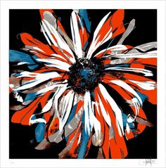 Dave Kinsey #dave #print #screen #flower #kinsey