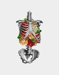 For The Love Of Creativity. #illustration #skeleton #flowers