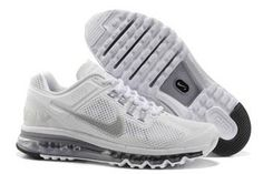 Nike Air Max 2013 White Reflective Silver Wolf Grey Mens Shoe #shoes