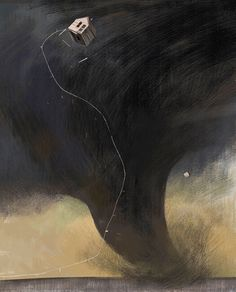 The Art Of Animation, Júlia Sardà#tornado #house #cloud #of #illustration #storm #oz #funnel #wizard