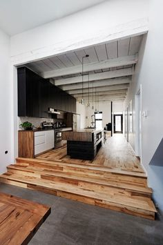 Tumblr #architecture #wood #white #interior #kitchen