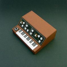Analogue Miniature 9 #miniatures #synth #craft #art #paper