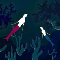 Illustration - Nina Barrois #mermaid #illustration