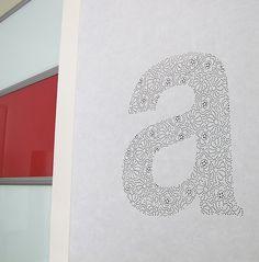 Helvetica Lace | anagraphic engish #farkas #design #graphic #anagraphic #handmade #helvetica #anna #typography