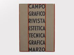 Display | Campo Grafico 1934 3 | Collection #cover #book
